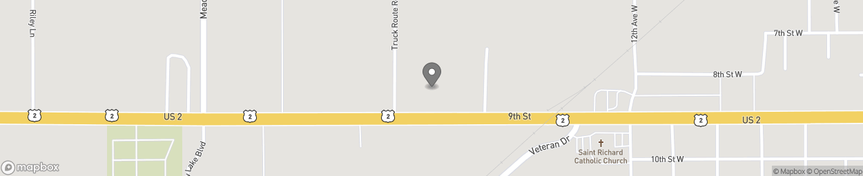 Carte de 1625 Highway 2 West à Columbia Falls