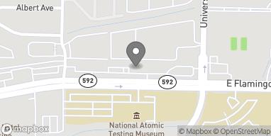 Map of 710 E Flamingo Road in Las Vegas
