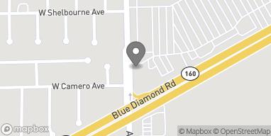 Mapa de 4380 Blue Diamond Road en Las Vegas