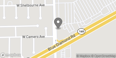 Map of 4380 Blue Diamond Road in Las Vegas