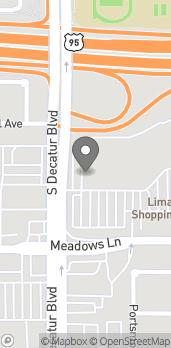 Mapa de 4700 Meadows Lane en Las Vegas