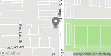 Mapa de 7425 S Durango Drive en Las Vegas