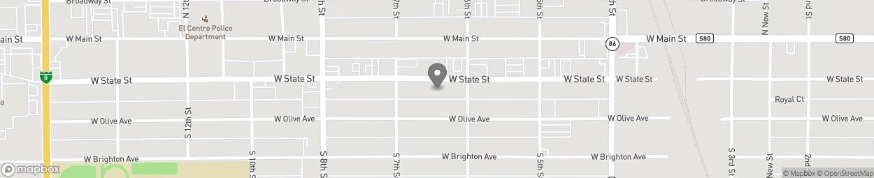 Carte de 641 State St à El Centro