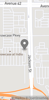 Map of 42425 Jackson Street in Indio