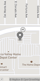 Map of 58709 Twenty-Nine Palms Hwy in Yucca Valley