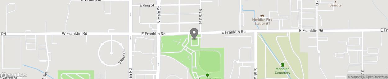 Map of 303 East Franklin Road in Meridian