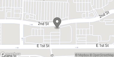Map of 1561 E 2nd St in Beaumont