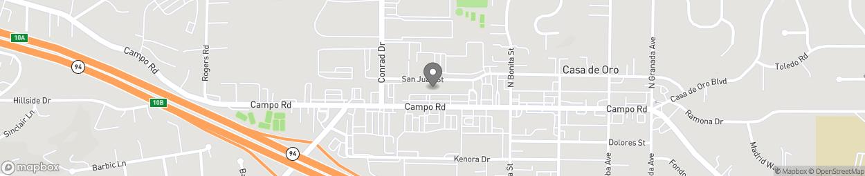 Carte de 9742-9748 Campo Road à Spring Valley
