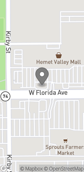 Map of 2350 W Florida Ave in Hemet