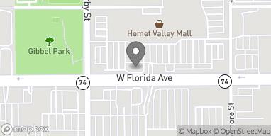 Map of 2350 W Florida Ave in Hemet
