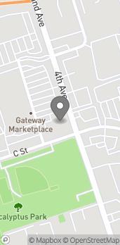 Mapa de 8 North 4th Ave en Chula Vista
