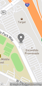 Mapa de 1268 Auto Park Way en Escondido