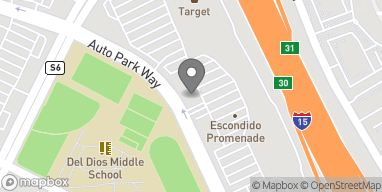 Mapa de 1268 Auto Park Way en Escondido