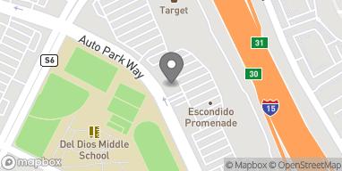 Map of 1268 Auto Park Way in Escondido