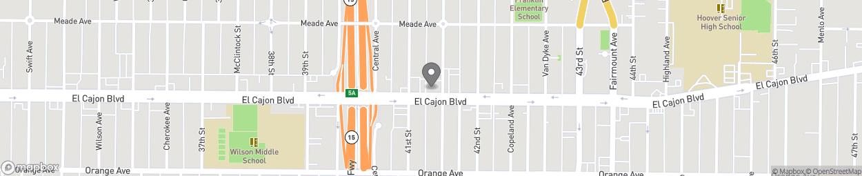 Carte de 4144 El Cajon Boulevard à San Diego