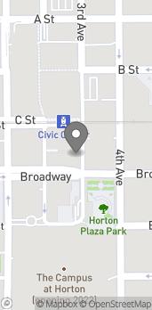 Mapa de 252 Broadway en San Diego