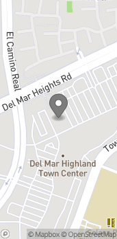 Map of 3435 Del Mar Heights Rd in San Diego