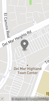 Mapa de 3435 Del Mar Heights Rd en San Diego