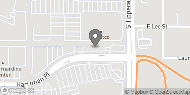 Map of 1060 E Harriman Place in San Bernardino