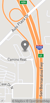 Map of 1375 Camino Real in San Bernardino