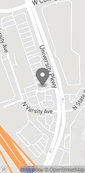Mapa de 4394 N University Pkwy Ave en San Bernardino