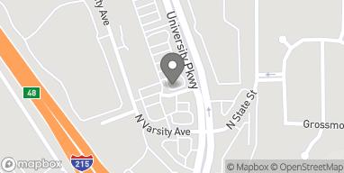Map of 4394 N University Pkwy Ave in San Bernardino