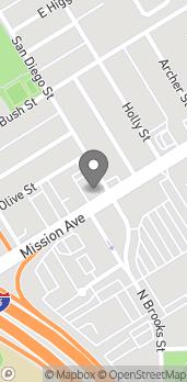 Mapa de 1444 Mission Ave en Oceanside