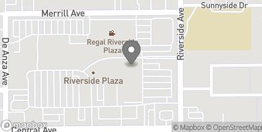 Map of 3540 Riverside Plaza in Riverside