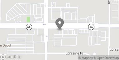 Mapa de 1255 W Foothill Blvd en Rialto