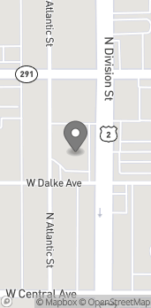 Map of N 6117 Division St in Spokane