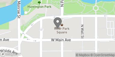 Map of 808 W Main Ave in Spokane