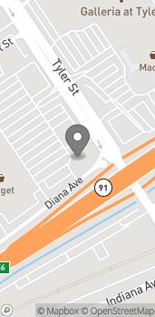 Mapa de 3502 Tyler Street en Riverside