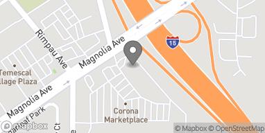 Map of 1222 Magnolia in Corona