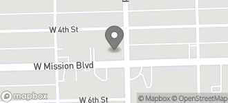 Map of 1105 West Mission in Pomona