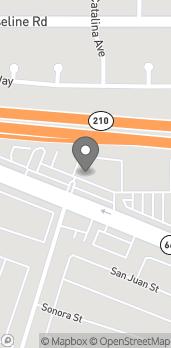 Mapa de 1215 Foothill Blvd en La Verne