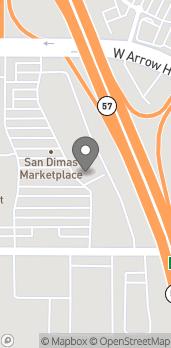 Map of 830 W Arrow Hwy in San Dimas