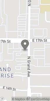 Map of 1268 E 17th St in Santa Ana