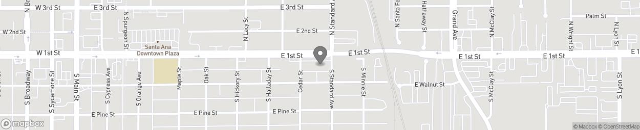 Carte de 920 East First Street à Santa Ana
