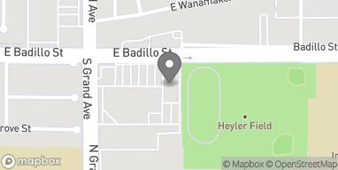 Mapa de 984 E Badillo St en Covina