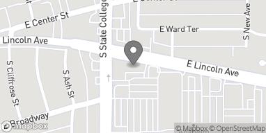 Mapa de 2008 E. Lincoln Ave en Anaheim