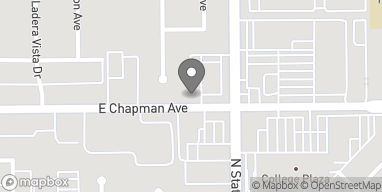 Map of 2323 E Chapman Rd in Fullerton