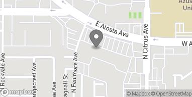 Mapa de 822 E Alosta Ave en Azusa
