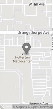 Map of 1345 S Harbor Blvd in Fullerton