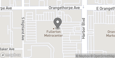 Map of 1345 S Harbor Blvd in Fullerton