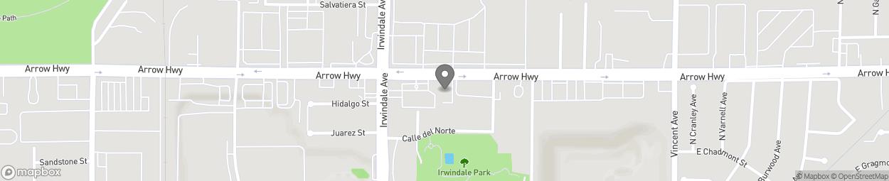 Carte de 16080 Arrow Highway à Irwindale
