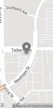 Map of 18011 Newhope St in Fountain Valley