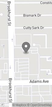 Mapa de 10035 Adams Ave en Huntington Beach