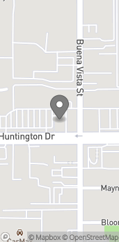 Map of 1243 Huntington Drive in Duarte