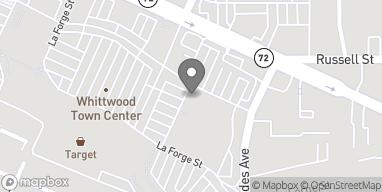 Mapa de 15714 Whittwood Lane en Whittier