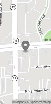 Map of 9020 Huntington Dr in San Gabriel